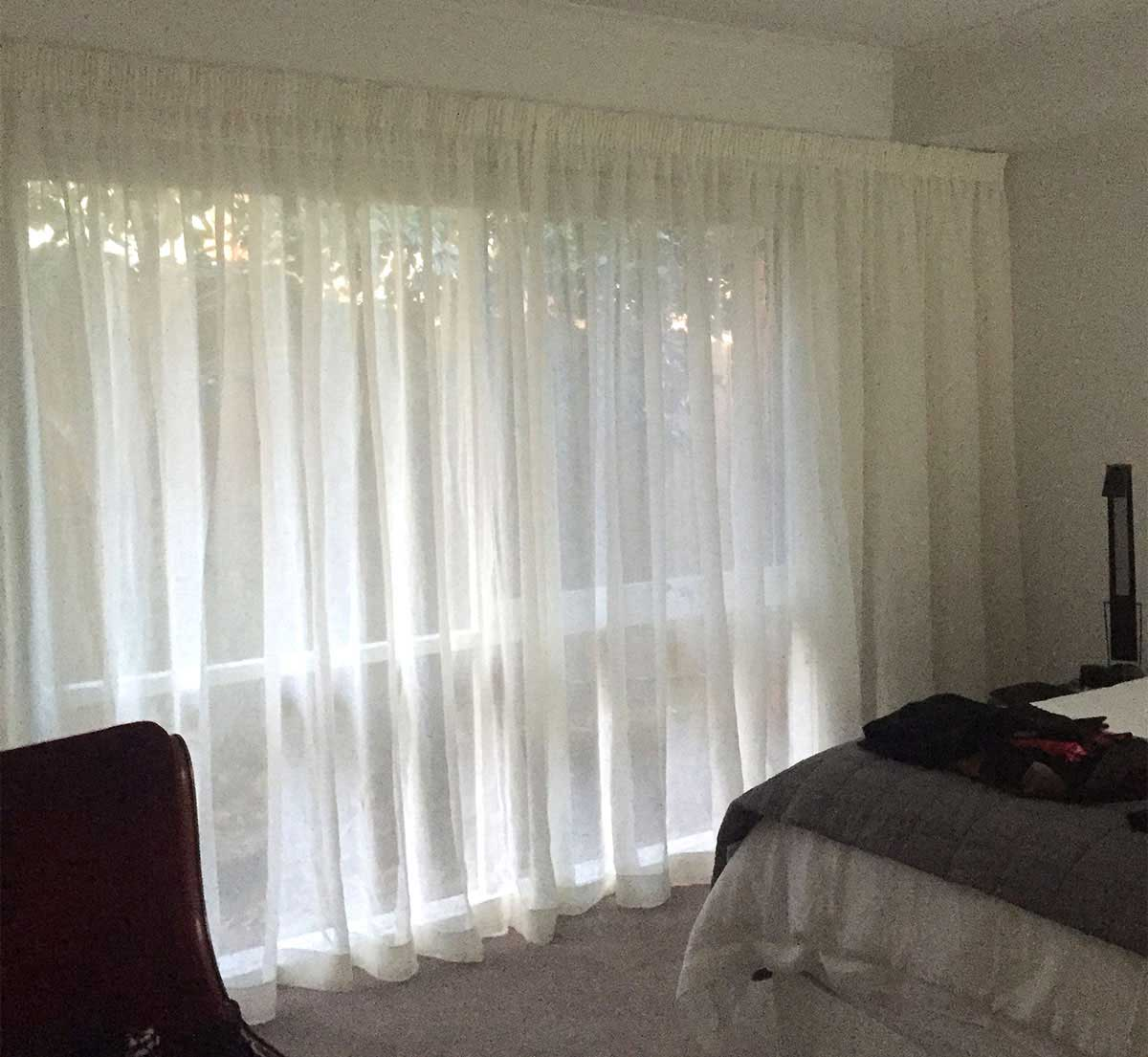 Sheer curtains over block out roller blinds blind concepts Curtains and blinds